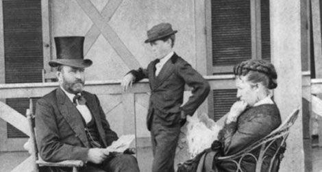 The First Lady Grant: Julia Grant with husband and son.